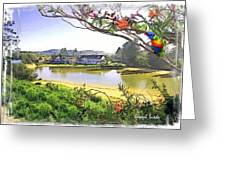Do-00289 The Clan Lakeside Lake Lodge Greeting Card