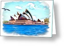 Do-00293 Sydney Opera House Greeting Card