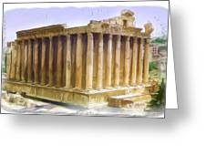 Do-00312 Temple Of Bacchus In Baalbeck Greeting Card