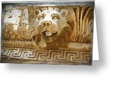 Do-00313 Lion Water Feature Greeting Card