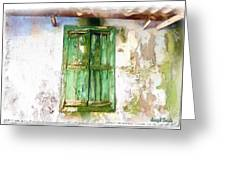 Do-00320 Soaked Window Greeting Card