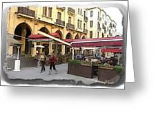 Do-00352 Downtown Coffee Shops Greeting Card