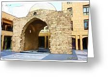 Do-00365 Historic Tomb In Downtown Greeting Card