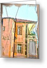 Do-00386 Old Building In Mar Mikhael Greeting Card