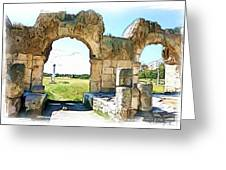 Do-00409 View On Arena In Tyr Greeting Card