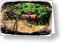 Do-00411 Old Train In Ryak Greeting Card