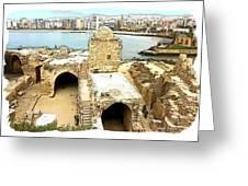 Do-00428 Citadel Looking On Sidon Greeting Card