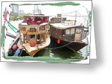 Do-00475 Old Boats Greeting Card
