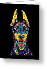 Doberman Dog Breed Head Pet Breed True Friend Color Designed Greeting Card