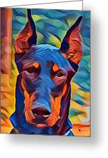 Doberman I C Greeting Card