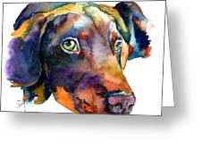 Doberman Watercolor Greeting Card
