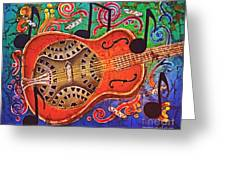 Dobro - Slide Guitar Greeting Card