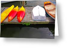 Dock And Boats Greeting Card