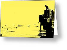 Dock And Ducks Greeting Card