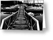 Dock And Sailboats Greeting Card