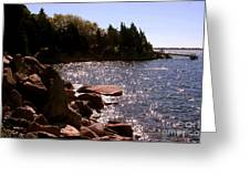 dock at Mount Hope Farm Bristol Rhode Island Greeting Card