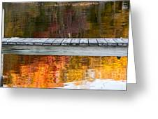 Dock At Peacham Pond Greeting Card