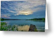 Dock At Shipshewana Lake Greeting Card
