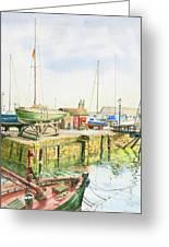 Dock Gate Dysart Harbour Fife Greeting Card