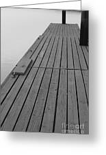 Dock In Black And White Greeting Card