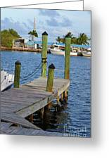 Dock In The Keys Greeting Card