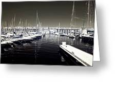 Dock In The Port Greeting Card