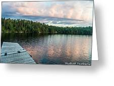Dock Of The Lake Greeting Card