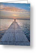 Dock On Arcata Bay At Twilight Greeting Card