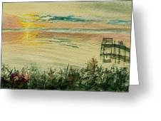 Dock On The Bay Greeting Card
