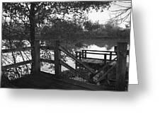 Dock On The Bayou Greeting Card