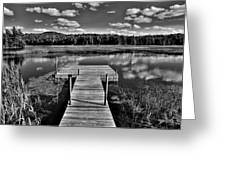 Dock On The Moose River Greeting Card