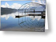 Dock Reflection Greeting Card