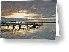 Dock Reflections Greeting Card