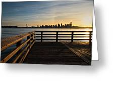Dock With A View Greeting Card