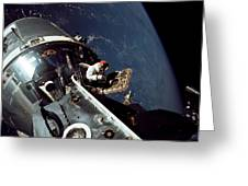 Docked Apollo 9 Command And Service Greeting Card