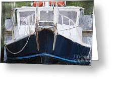 Docked For The Night Greeting Card