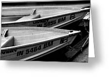 Docked Rowboats Greeting Card
