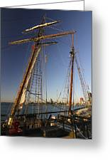 Docked Tall Ship Greeting Card
