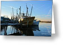 Docks At Darien  Greeting Card