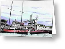 Docks N Boats Greeting Card