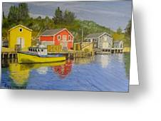 Docks Of Northwest Cove - Nova Scotia Greeting Card