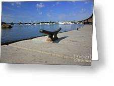 Dock's View Greeting Card