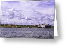 Dockside At Fort Trumbull Greeting Card