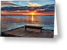 Dockside Sunset By H H Photography Of Florida Greeting Card