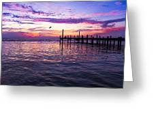 Dockside Sunset Greeting Card