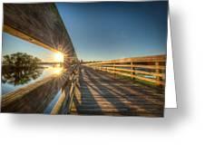 Dockside Sunset Greeting Card