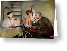 Doctor - At The Pediatricians Office 1925 Greeting Card