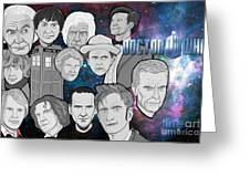 Doctor Who Collage Greeting Card by Gary Niles