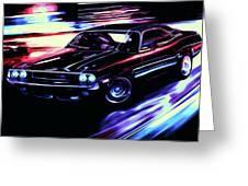 Dodge Challenger Rt 1970 Greeting Card
