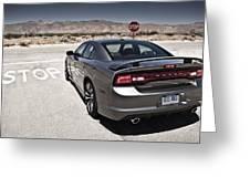 Dodge Charger Srt8 Greeting Card